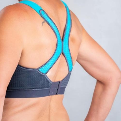 Anita DynamiX Star urheiluliivi turkoosi selkäosa